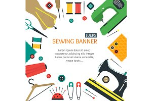 Sewing Equipment and Tools Banners