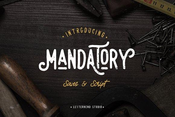 Mandatory Vintage Font Duo