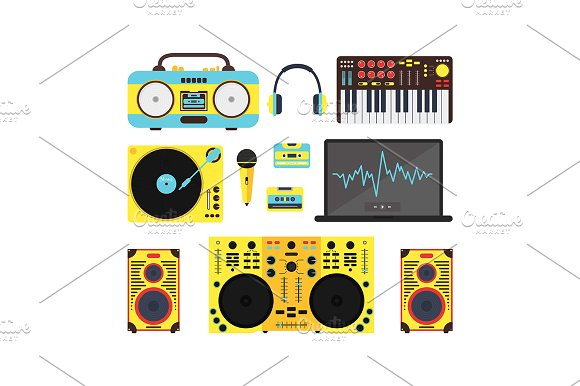 Dj Audio Music Equipment Set