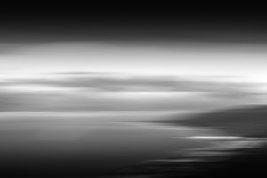 Horizontal black and white landscape abstraction