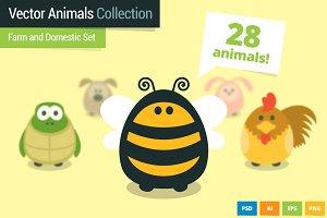 Farm and Domestic Animals Set