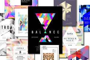 10 Geometric Poster Templates