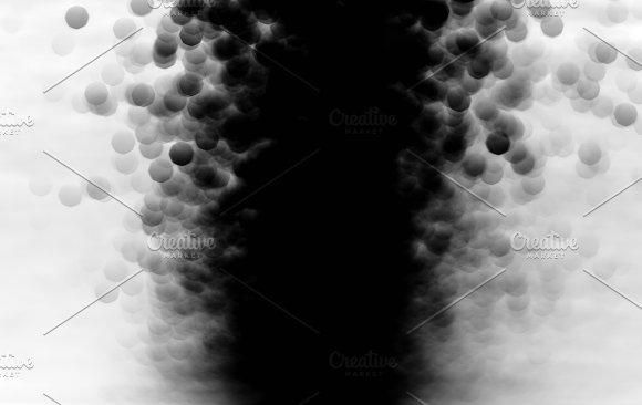 Vertical Black And White Dark Bokeh Background