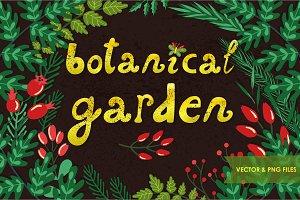 Botanical garden (vector, png)