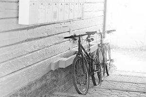 Tromso bicycle yard background