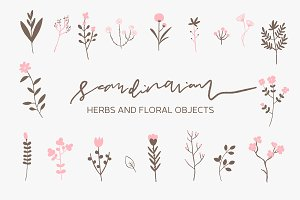 Scandinavian - Herbs and Flowers