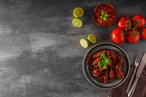 Chicken wings hot sauce