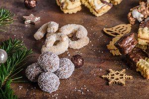 Christmass cookies, candy