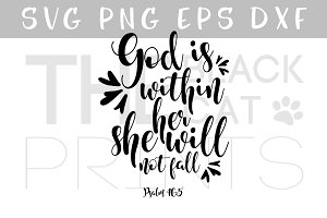 Psalm 46:5 SVG Bible verse SVG DXF