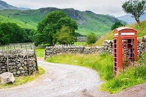 Rural landscape in Lake District National park