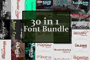 30 in 1 Font Bundle SALE