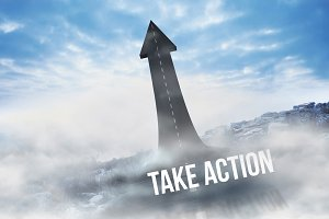 Take action against road turning into arrow