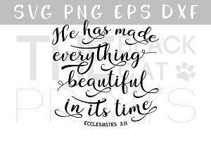 He has made everything beautiful SVG