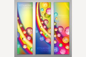 Vitamins Rainbow Banners