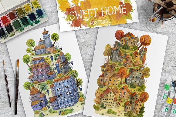 Sweet Home Posters