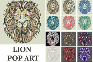 Lion Pop art style