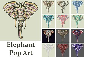 Elephant Pop Art