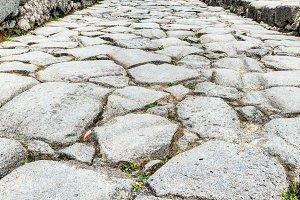 Ancient road in Pompeii