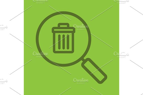 Waste Management Search Linear Icon