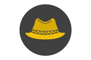 Homburg hat glyph color icon