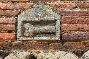 Phallus on the wall in Pompeii