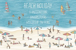 Beach holiday - Pattern & Banners