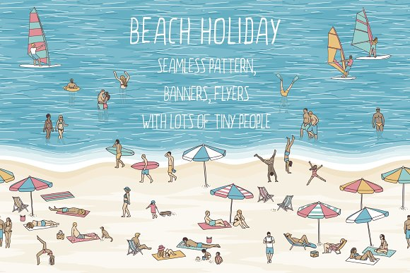 Beach Holiday Pattern Banners