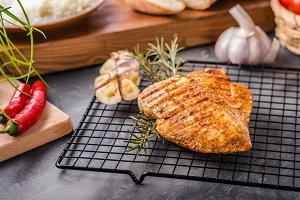 Chicken steak grilled