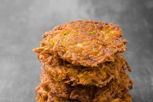 Potato pancakes with garlic