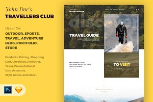 Travellers Club PSD/Sketch
