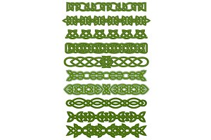 Green celtic knots ornaments