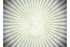 Blue vintage rays
