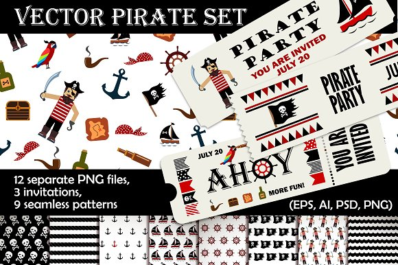 Pirate Illustration Pack