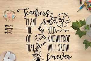 Teachers Plant the Seed Cut File