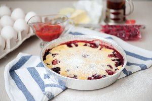 Traditional pie with berry stuffing