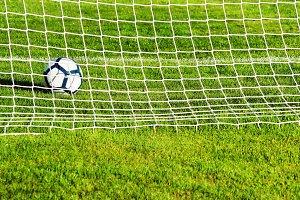 soccer football goal with ball