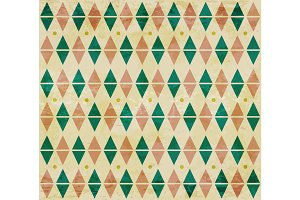 Seamless aged diamond pattern