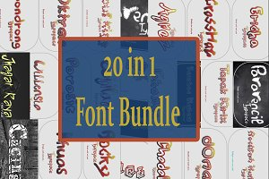 20 in 1 Font Bundle Super Sell