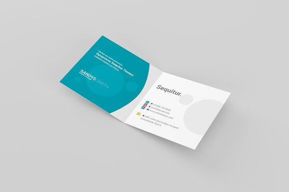 Square folded business card mock ups product mockups creative market reheart