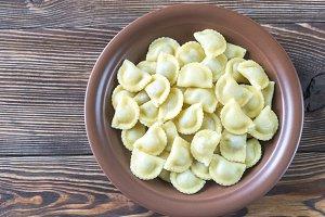 Portion of ravioli