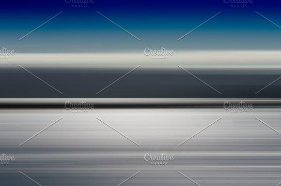 Horizontal Motion Blur Blue Ocean Landscape Background