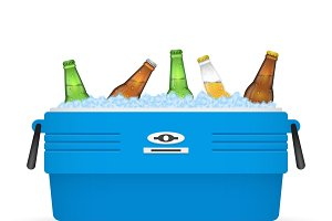 Beer ice cooler