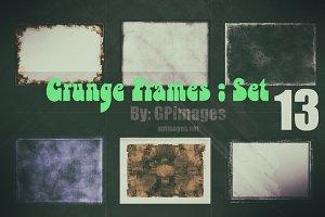 Grunge textured retro style frames