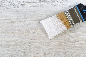 Paint Brush loaded with paint