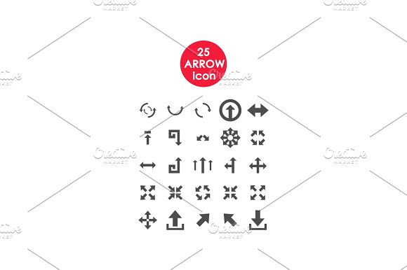 Set Of Simple Vector Icons Arrows