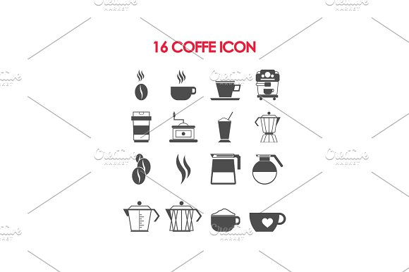 Set Of Coffee Equipment And Accessories