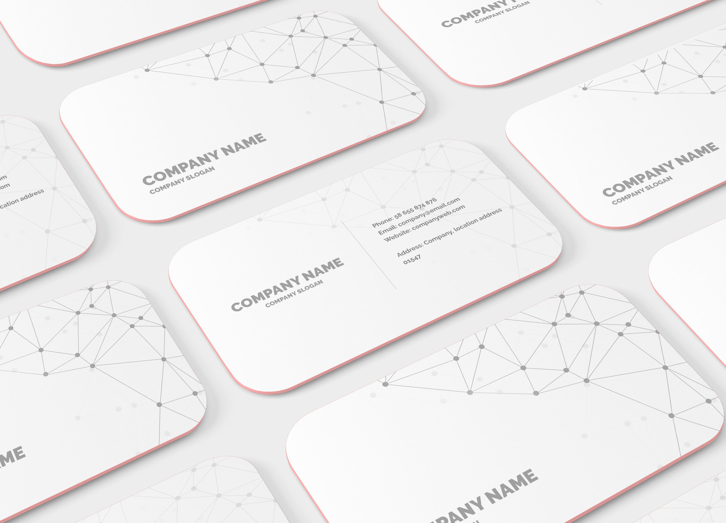 Rounded corner business card mockup product mockups creative market reheart Image collections