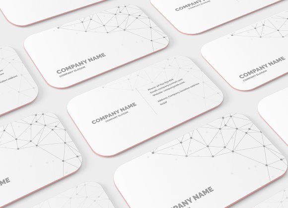 Rounded Corner Business Card Mockup Product Mockups