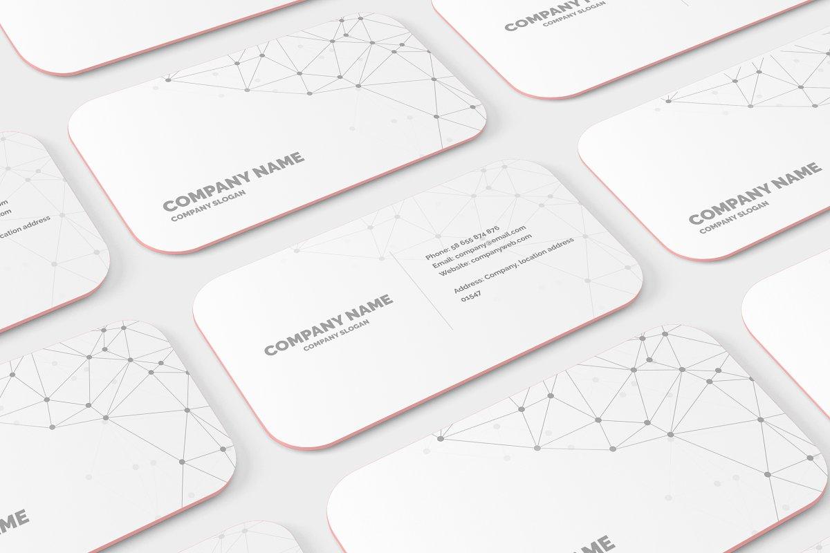 Rounded Corner Business Card Mockup ~ Print Mockups