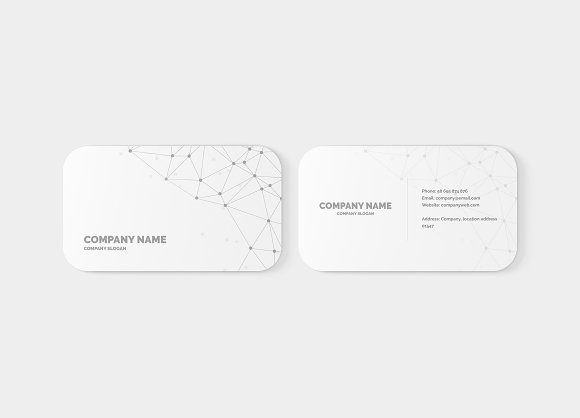 rounded corner business card mockup product mockups creative market - Rounded Corner Business Cards